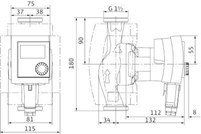 circulateur wilo strastos pico 25 1 4 classe a. Black Bedroom Furniture Sets. Home Design Ideas